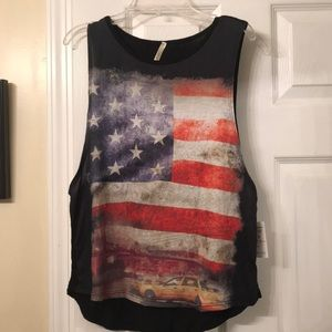 Fourth of July Muscle Screen Print Tee